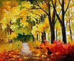 Fall Park by Leonid Afremov