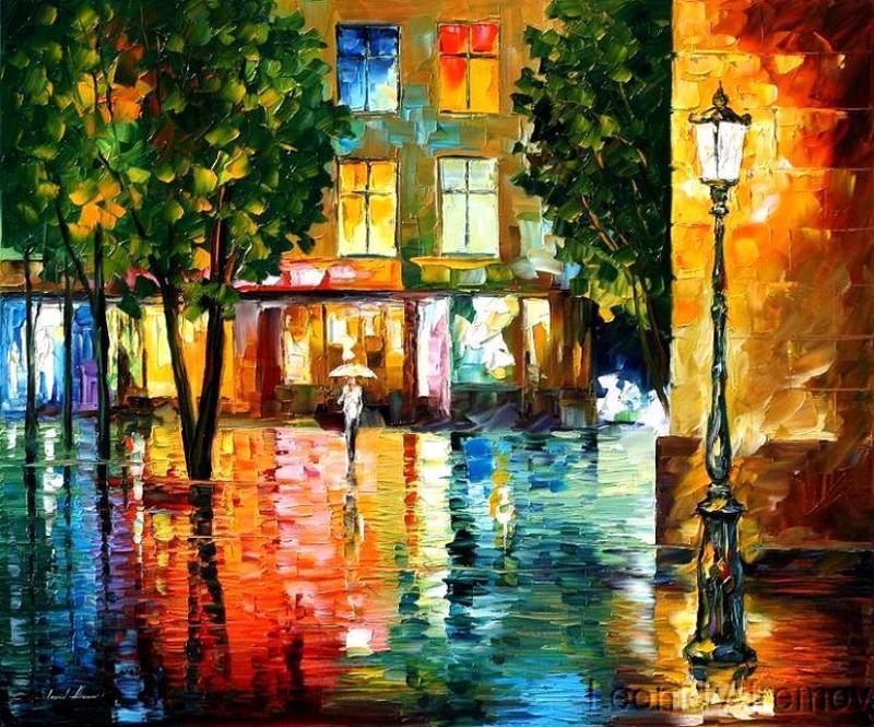 CITY MAGIC by Leonid Afremov by Leonidafremov