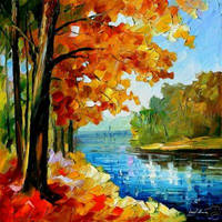FALL RIVER by Leonid Afremov by Leonidafremov