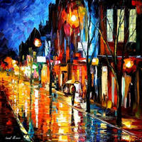 NIGHT CITY by Leonid Afremov by Leonidafremov