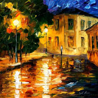 Afremov WALK HOME Original Art by Leonidafremov