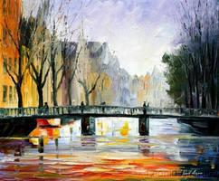 AMSTERDAM FOG by Leonid Afremov by Leonidafremov
