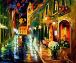 FLOWERS STREET by Leonid Afremov