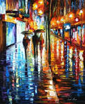 Night Rain by Leonid Afremov