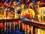 Evening River by Leonid Afremov
