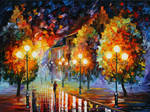 Rain In The Night City by Leonid Afremov