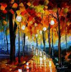 Romantic path by Leonid Afremov