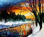 Winter by Leonid Afremov
