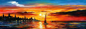 The Amber Evening by Leonid Afremov