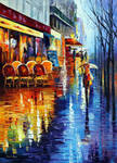 Cafe In Paris by Leonid Afremov