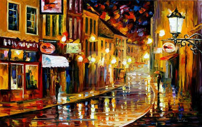 Lights Of The Old Town by Leonid Afremov