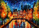 AMSTERDAM CANAL by Leonid Afremov