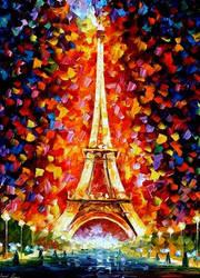 Paris Eiffel Tower by Leonid Afremov