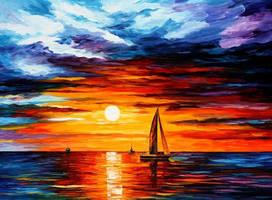 Touch Of Horizon by Leonid Afremov by Leonidafremov