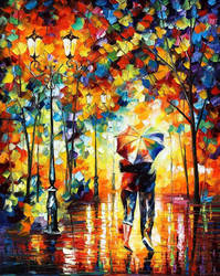 Under One Umbrella by Leonid Afremov by Leonidafremov