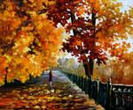 Blues Of Falling Leaves by Leonid Afremov