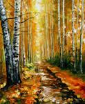 Autumn Birches by Leonid Afremov
