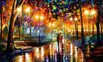 Rain's Rustle in the Park by Leonid Afremov