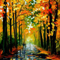 THE RAIN IS GONE by Leonid Afremov by Leonidafremov