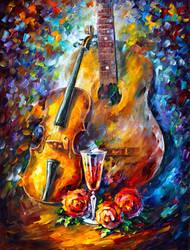 Guitar And Violin by Leonid Afremov