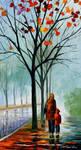 STROLL WITH MAMA by Leonid Afremov
