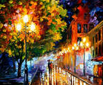 Romantic night oil painting on canvas by L.Afremov