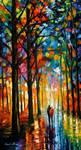 Dark rain oil painting on canvas by Leonid Afremov
