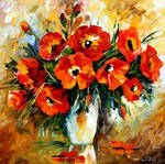 Bouquet oil painting on canvas by L.Afremov