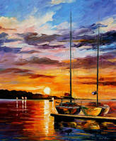 By The Dock by Leonid Afremov by Leonidafremov