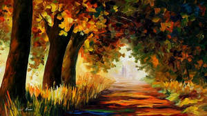 Under The Arch Of Autumn by Leonid Afremov