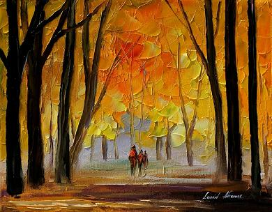 My family by Leonid Afremov by Leonidafremov