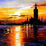 Town On Horizon by Leonid Afremov