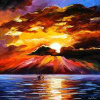 Sunny clouds by Leonid Afremov by Leonidafremov