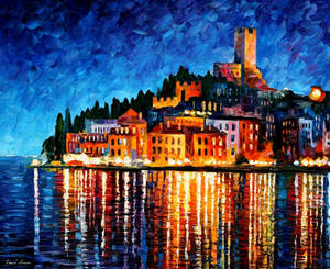 Italy - Harbor by Leonid Afremov