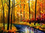 Fall stream by Leonid Afremov