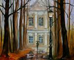 Old summer house by Leonid Afremov