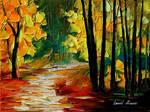 Fall alley 2 by Leonid Afremov