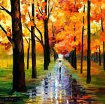 Yellow Rain by Leonid Afremov by Leonidafremov