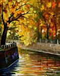 Autumn canal by Leonid Afremov
