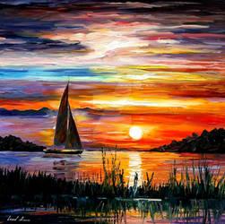 Florida lake Okeechobee by Leonid Afremov