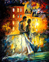 Silhouettes of people by Leonid Afremov by Leonidafremov