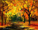 New original oil on canvas by Leonid Afremov