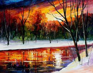 Winter Spirit by Leonid Afremov by Leonidafremov