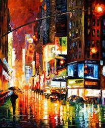 Times Square by Leonid Afremov