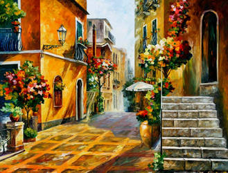 The sun of Sicily by Leonid Afremov by Leonidafremov