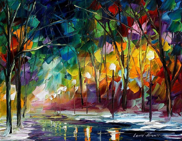 My day in the forest by Leonid Afremov by Leonidafremov