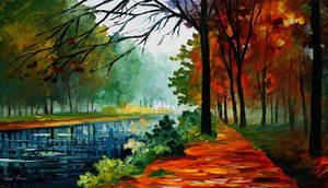 River Of Life by Leonid Afremov by Leonidafremov