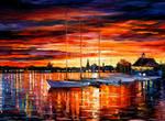HELSINKI - SAILBOATS AT YACHT CLUB by L.Afremov