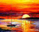 Golden Gate Bridge By The Sunset by Leonid Afremov