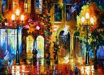Night doors by Leonid Afremov
